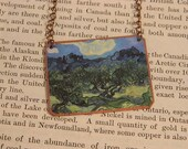 Van Gogh necklace Olive Trees Art jewelry  Wearable art