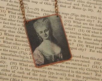 Science necklace Women in Science Nicole Reine Lepaute Womens history mixed media jewelry