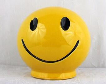 Smiley Face Bank Mc Coy Pottery