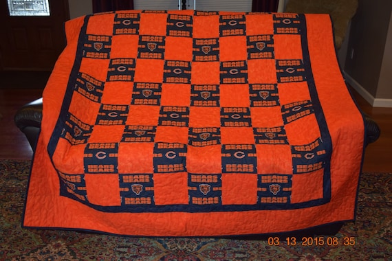 Chicago Bears Quilt READY TO SHIP : chicago bears quilt - Adamdwight.com