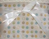 Flannel baby blanket polka dots Flannel baby blanket gender neutral baby girl baby boy toddler bedding layette reversible swaddling