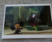 "Russian postcard ""Cheburashka and Gena"", a character  children's cartoon"