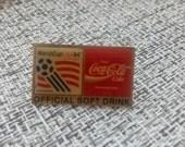 world cup USA 1994 pin badge soccer football coca-cola