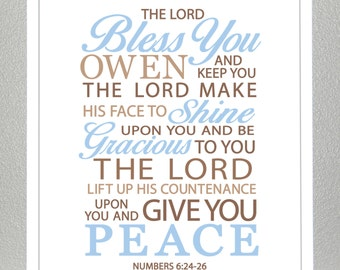 Godson gift - Numbers 6:24-26  - Print
