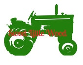 Vintage Tractor,  2 x digital SVG file in line format and color  format, masculine, detailed JPEG and PNG