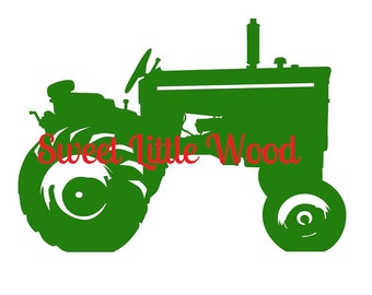 Vintage Tractor 3 x digital SVG file in black line with white fill, no fill and color format, masculine, detailed. PNG included