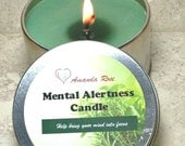 Mental Alertness Candle, Aromatherapy candle,  Aromatherapy for concentration