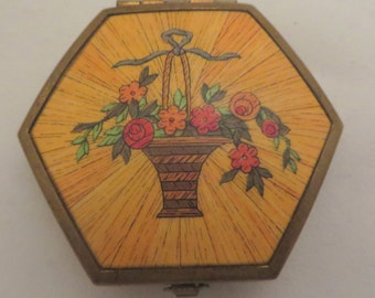 Houbigant Vintage Flower Basket Design Small Compact