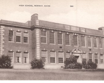 Vintage Postcard...High School, Norway Maine...Unused...no. 2839