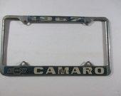1967 Chevrolet Camaro Car License Plate Cover Topper Frame