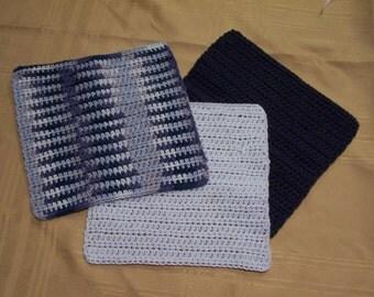 Crochet Dishcloths, Crochet Washcloths, Housewarming Gift, Spa Gift, Cotton Dishcloths, Cotton Washcloths