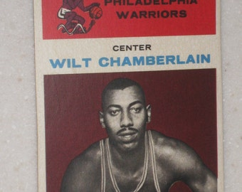 1961-62 fleer wilt chamberlain rookie card #8