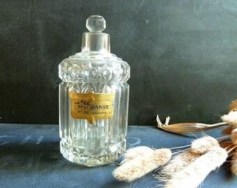 Rare Antique Crystal Perfume Bottle 1920s.