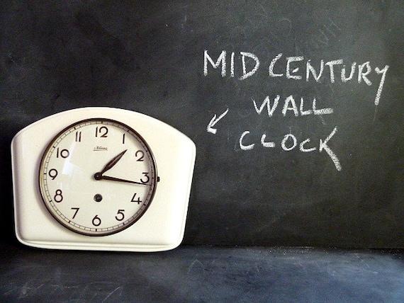 Wall Clock .Mid Century Modern Kitchen Wall Clock By