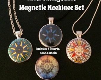 Interchangeable Magnetic  Pendant Necklace Set
