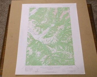 Vintage 1963 Abiathar Peak Quadrangle Wyoming Geological Survey Map