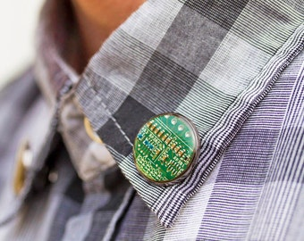 Pin - tie pin - Collar pin - circuit board - fathers day gift - gift for him