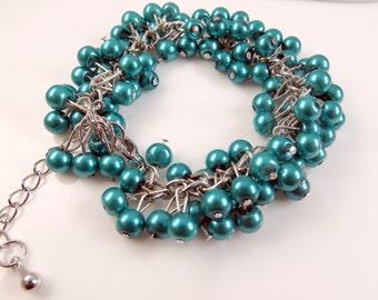 Blue cha cha bracelet