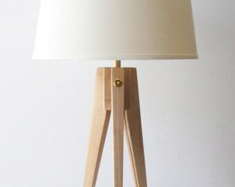 Table Lamp Tripod Slim - Maple