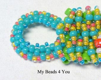 Beaded Bracelet, Beadwoven Bracelet, Beaded Cuff Bracelet, Embellished Beaded Bracelet, Seed Bead Bracelet, Beadwork