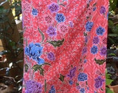 woman's sarong floral red and pink pattern WW2