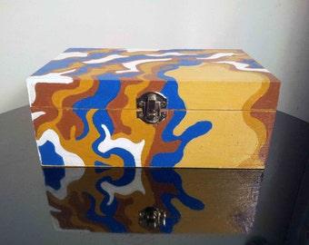 Hand Painted Wooden Keepsake Box