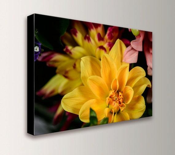 "Yellow Flower Canvas Wall Art - Floral Photography - Fine Art Canvas Print, "" Yellow Flower """