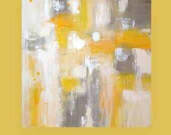 "Abstract Acrylic Painting, Art on Canvas,Abstract Art,Acrylic Painting, Art by Ora Birenbaum Paved Paradise 5 36x36x1.5"""