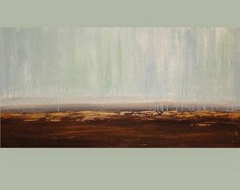 "Art, Abstract,Acrylic,Painting, Original Art on Canvas, Beach Art, by Ora Birenbaum Titled: Wisteria 24x48x1.5"""
