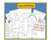French Worksheet - Kids Learning Sheet - Numbers - Kids Activities - Printable Kids Activity - Teachers Resource - Lesson Plans