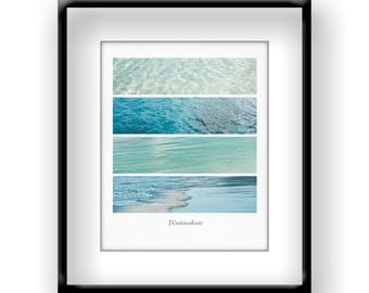 Water Photograph - Water Photo - Minimalist Photograph - Ocean Photograph - Water - Fine Art Photography Print - Teal Blue White Home Decor
