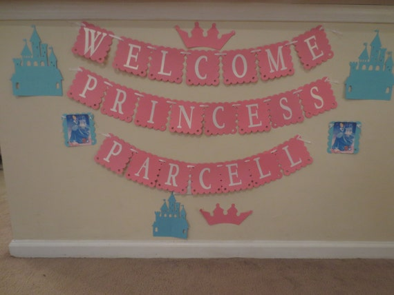 cinderella baby shower banner personalized with name