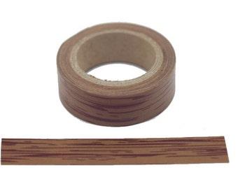 "W8162  11Yards Wood Grain 5/8"" (15mm) Washi Tape Paper Masking Tape"