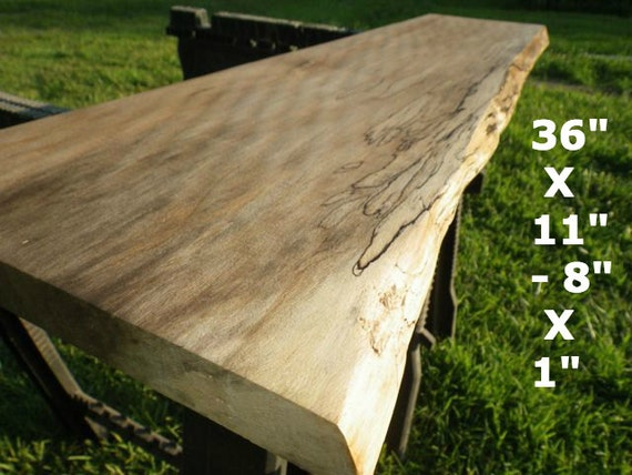 Live edge sycamore finished natural edge wood by for Finished wood slabs