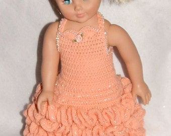 AG Doll Ruffled Evening Gown & Short Dance Dress Crochet Patterns