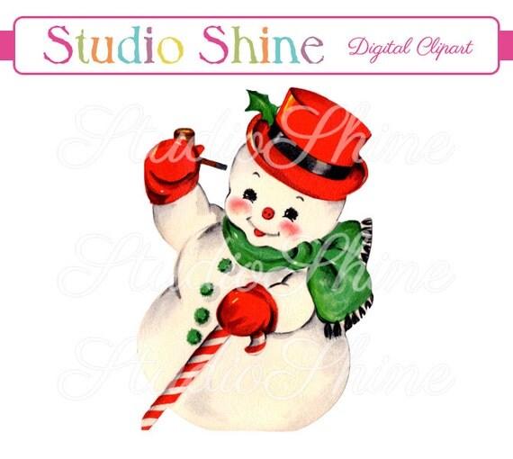 vintage snowman clipart - photo #12