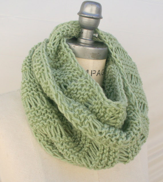 Knitting Items To Sell : Best selling items green scarf knit hand by piyoyo