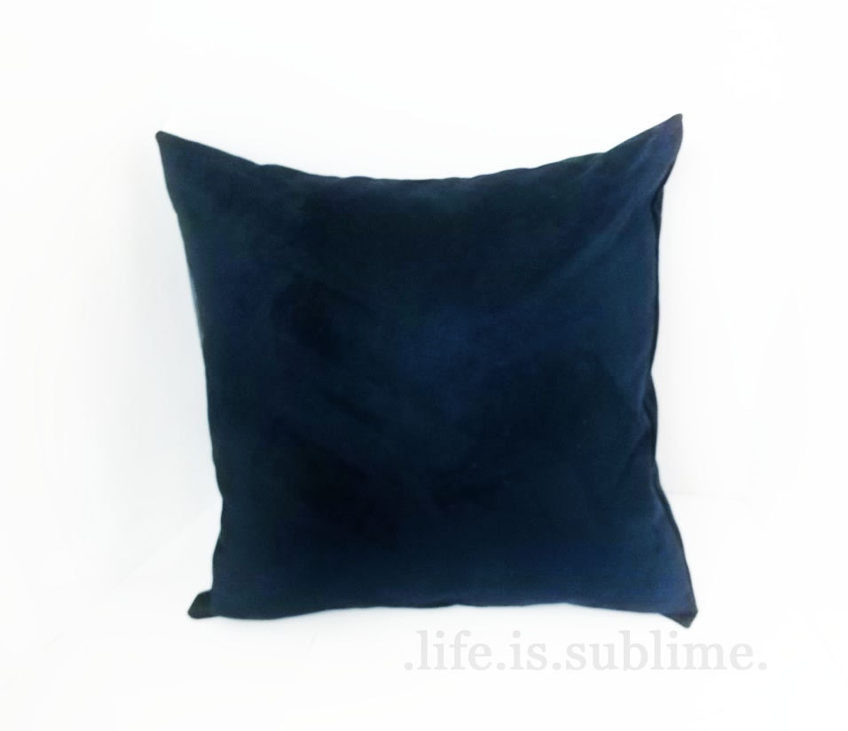 Blue Microsuede Throw Pillows : Chandeliers & Pendant Lights