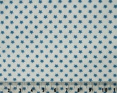 Tilda Fabric Blue Mini Star Blue Sold by the Half Metre - UK Shop - Craft Supplies