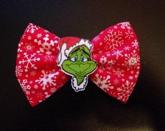 The Grinch Christmas Hair Bow