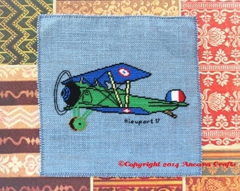 Nieuport 17 Airplane Cross Stitch Kit
