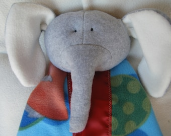Light Grey Elephant Security Blanket - Blanket Buddy
