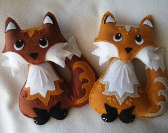 Cute Plush Rust or Copper Fox Toy - No Removable Parts