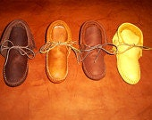 Leather Boots and Moccasins Handmade Buckskin Moccasin Leather Fringe Indian Mountain Mendezvous Hunting Hiking Made In Oregon Sinew