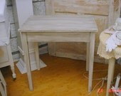 Chalkpainted Rustic Table Distressed White Vintage Prairie Farmhouse Shabby Cottage Chic