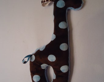 Giraffe Shaped Stuffed Minky Security Tag Toy for Baby Unique Toy Soft Toy