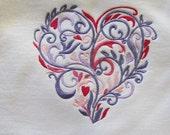 Fancy Filigree Valentine Heart Sweatshirt