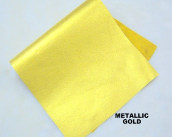gold leather genuine leather fabric 4x 6