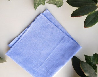 Pocket Square in Blue Cotton