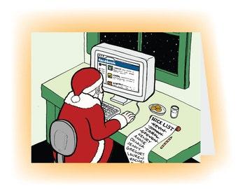 Santa's Facebook Card